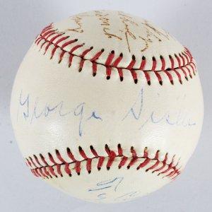 Ty Cobb & George Sissler Signed Hollywood Stars Baseball JSA Full Letter