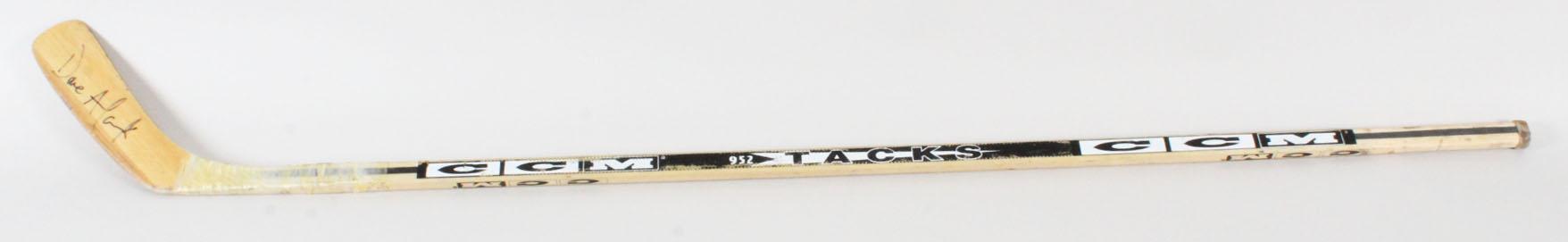 Dave Andreychuk Game-Used Hockey Stick Signed - COA 100% Authentic Team