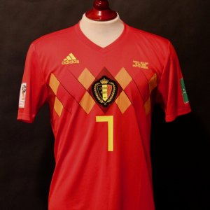 Kevin De Bruyne Game-Used #7 Belgium Shirt.  2018 FIFA World Cup Semi-Final.