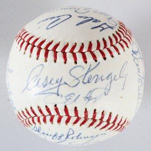 1965 Mets Team-Signed Baseball Lot COA JSA