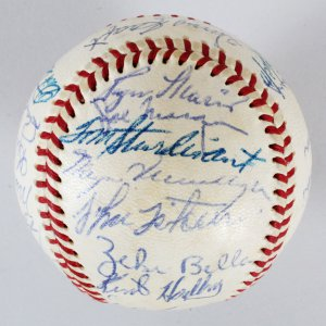1958 Kansas City Athletics Team-Signed Baseball - Roger Maris, etc. - COA JSA