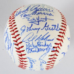 1960 Detroit Tigers Team-Signed Baseball - Al Kaline, Norm Cash, etc. - COA JSA