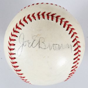 Joe E. Brown Signed Baseball - COA JSA
