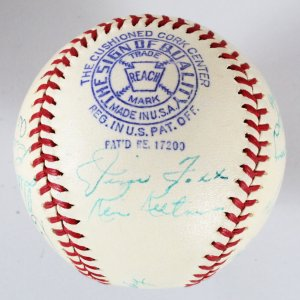 1940 American League All-Stars Team-Signed Baseball Foxx JSA Full Letter