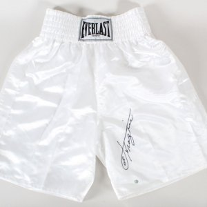 Joe Frazier Signed Boxing Trunks - COA JSA