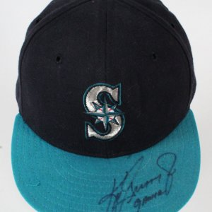 Ken Griffey Jr. Game-Worn Cap Mariners - COA JSA & 100% Authentic Team