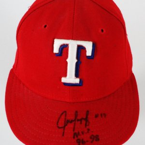 Juan Gonzalez Game-Worn Cap Rangers - COA JSA & 100% Authentic Team