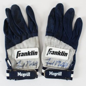 Fred McGriff Game-Used Batting Gloves Signed Devil Rays - COA JSA & 100% Authentic Team