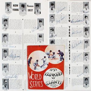 1937 World Series Champs Yankees Team Signed Program Lou Gehrig