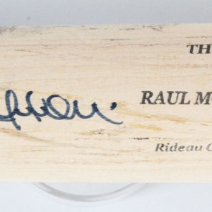 Raul Mondesi Game-Used Bat Signed Yankees - COA JSA & 100% Authentic Team