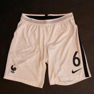 Paul Pogba Game-Used #6 France Shorts.  2018 FIFA World Cup Qualifier.