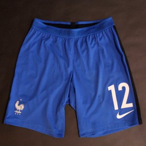 Kylian Mbappe Game-Used #12 France Shorts.  2018 FIFA World Cup Qualifier.