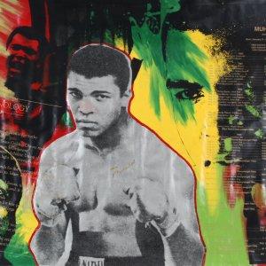Muhammad Ali Signed Canvas Art Steve Kaufman - COA JSA