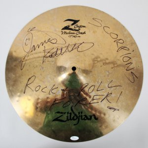 James Kottak Stage-Used Cymbal Signed Scorpions - COA JSA & 100% Authentic Team