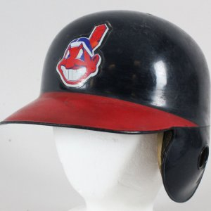 Manny Ramirez Game-Used Batting Helmet Indians - COA 100% Authentic Team & Team Stamping
