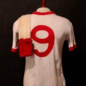 Sir Bobby Charlton Game-Used Manchester United Away Shirt & Socks.  Circa 1960's.