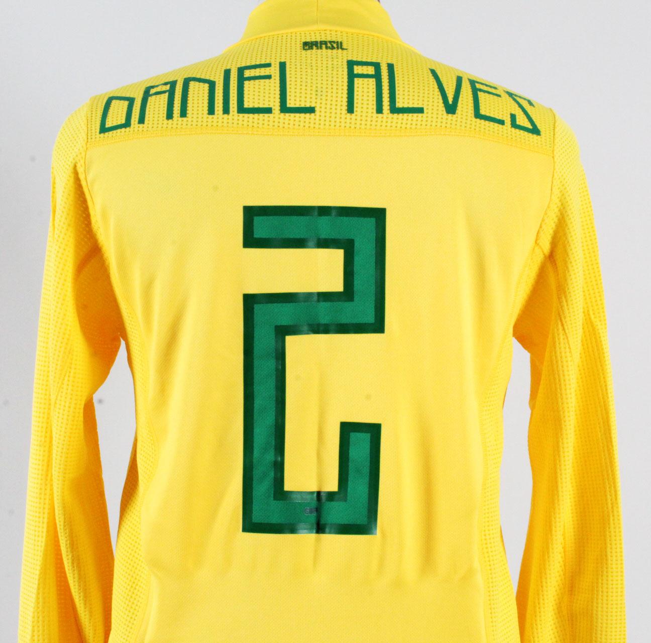 f4b33f234 2011 Copa America Daniel Alves Game-Worn Jersey Brazil National Team Rare