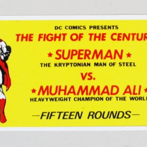 Muhammad Ali vs. Superman Ticket 1978 DC Comics Promo