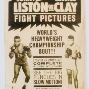 Sonny Liston vs. Cassius Clay Film Poster Window Display