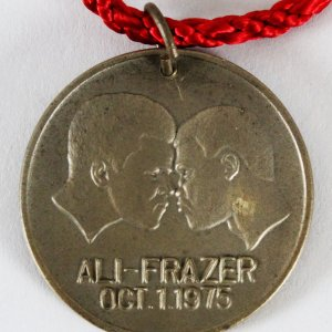 Joe Frazier vs. Muhammad Ali Coin Medal Thrilla in Manila Necklace