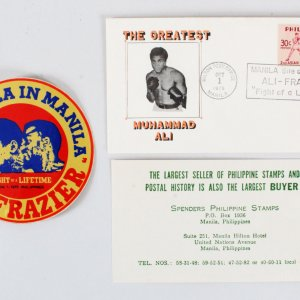 Muhammad Ali vs. Joe Frazier Envelope & Sticker