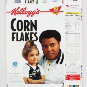 Muhammad Ali Limited Edition Kellogg Corn Flakes Cereal Box