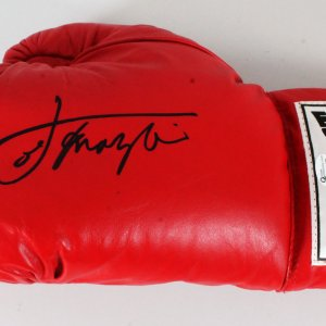 Joe Frazier Signed Boxing Glove - COA