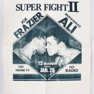 1974 Muhammad Ali Vs. Joe Frazier II Fight Poster