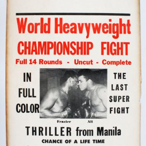 "1975 Ali vs. Frazier ""Thrilla in Manila"" Fight Poster."