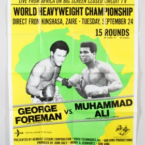 Muhammad Ali vs. George Foreman Fight Poster Oversized