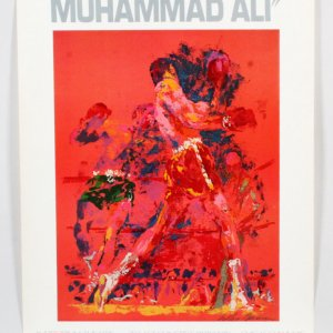 LeRoy Neiman Red Boxer Poster Muhammad Ali