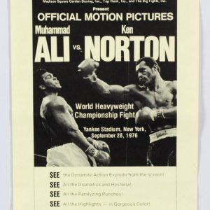 Muhammad Ali vs. Ken Norton Poster Motion Pictures