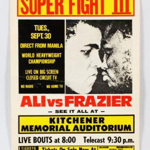 Muhammad Ali vs. Joe Frazier Super Fight III Poster