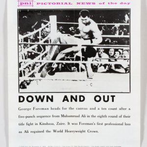 Muhammad Ali vs. George Foreman Poster