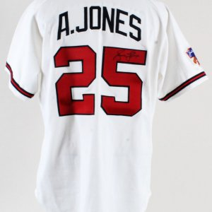 1997 Andruw Jones Game-Worn Jersey Signed Braves