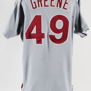 61c939a99 1991 Tommy Greene Game-Worn Phillies Jersey -Signed GRADE 11 20 100%  Authentic Team