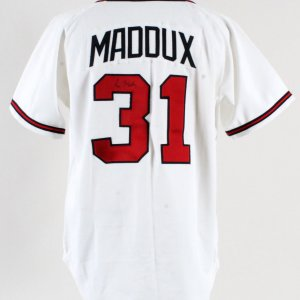 1996 Greg Maddux Game-Worn Jersey Signed Braves