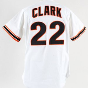 1989 Will Clark Game-Worn Jersey-Giants-Signed
