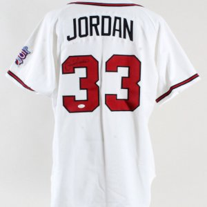 1999 Brian Jordan Game-Worn Jersey Signed Braves