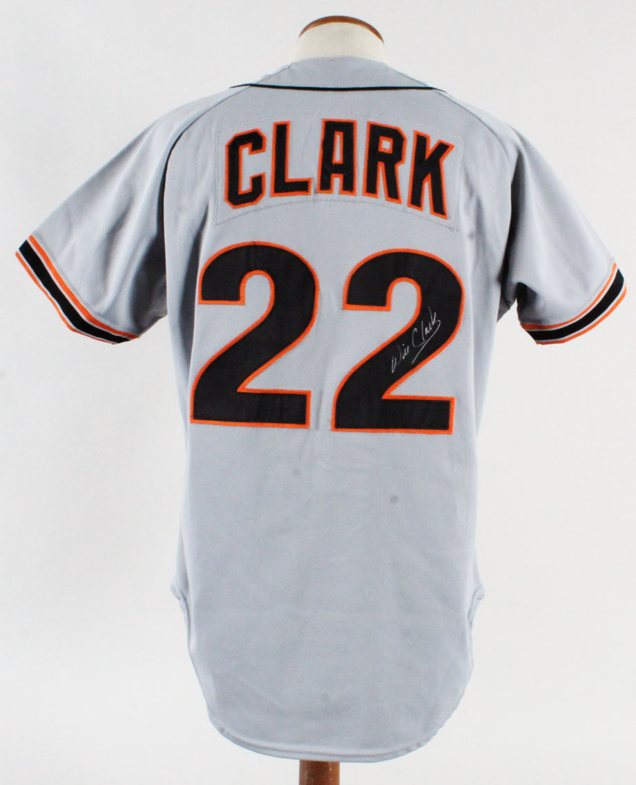 newest dfaab 49341 Will Clark Game-Worn Jersey Signed Giants GRADE 13/20 ...