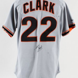 1991 Will Clark Game-Worn Jersey Signed Giants- Unable to Authenticate