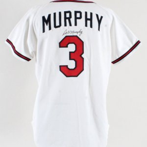 1993 Dale Murray Game-Worn Jersey Signed Braves