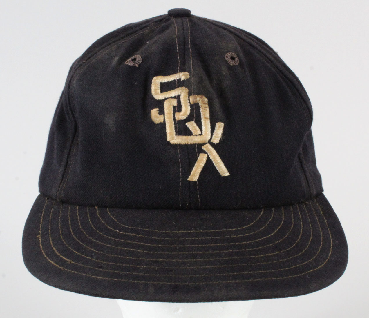 769e5a843057a0 1960's Eddie Stanky Game-Used Baseball Hat- White Sox COA 100% Authentic  Team