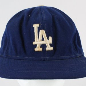 Maury Willis Game-Used Baseball Hat -Signed -Dodgers COA 100% Authentic Team