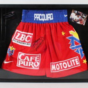 Manny Pacquiao Signed Boxing Trunks - COA
