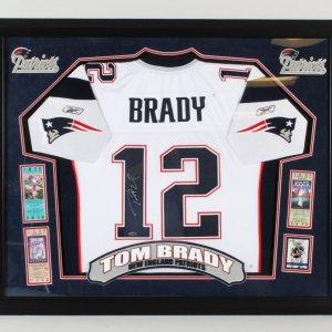 Tom Brady Signed Jersey Framed Patriots - COA TriStar