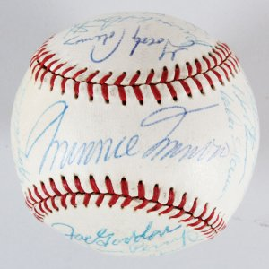 1959 Cleveland Indians Team-Signed Baseball - COA JSA
