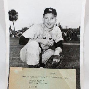 Mickey Mantle 1952 Original Wire Photo