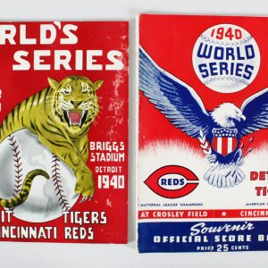1940 World Series Programs (2) Detroit Tigers & Cincinnati Reds