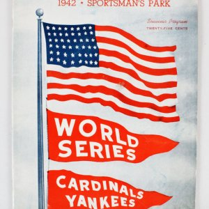 1942 World Series Program NY Yankees/St. Louis Cardinals